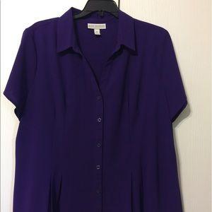 Dana Bachman purple blouse xl